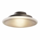 Structures Flush Mount 1 Light Fluorescent shown in Olde Bronze by Kichler Lighting