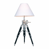 Studio Wood & Zinc Alloy & Stainless Steel Table Lamp shown in Chrome And Black by Dimond Lighting