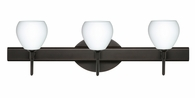 Tay Tay 3 Light Wall Sconce Vanity shown in Bronze with Opal Matte Glass Shade by Besa Lighting