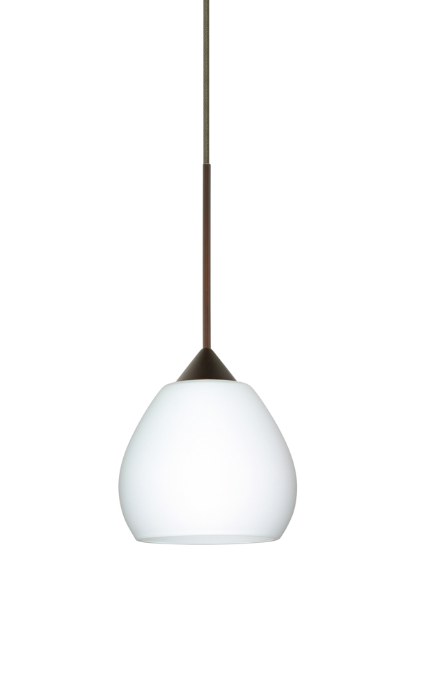with opal matte glass shade by besa lighting 1xt 560507 led br
