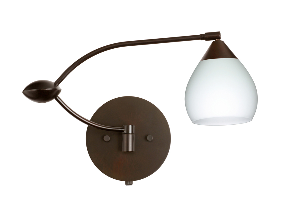 in bronze with opal matte glass shade by besa lighting 1wu 560507 br