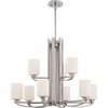 Taylor- Contemporary Style Taylor Chandelier In Antique Nickel Finish From Quoizel Lighting- TY5009AN