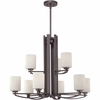 Taylor- Contemporary Style Taylor Chandelier In Western Bronze Finish From Quoizel Lighting- TY5009WT