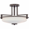 Taylor- Contemporary Style Taylor Semi-Flush Mount In Western Bronze Finish From Quoizel Lighting- TY1716WT