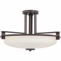 Taylor- Contemporary Style Taylor Semi-Flush Mount In Western Bronze Finish From Quoizel Lighting- TY1721WT