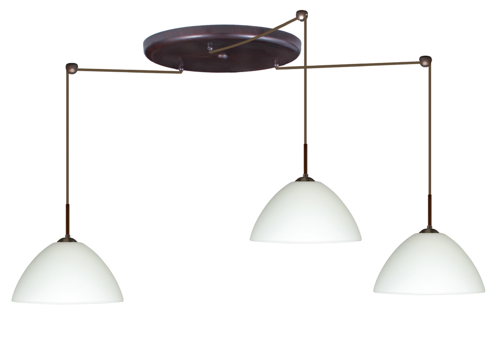 in bronze with white glass shade by besa lighting 3jw 420107 br