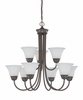 Thomas Lighting Bella 9-light Chandelier in Oiled Bronze finish - SL805215