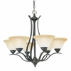 Thomas Lighting Prestige 6-light Chandelier in Sable Bronze finish - SL863622