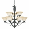 Thomas Lighting Prestige 9-light Chandelier in Sable Bronze finish - SL863922