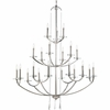 Thomasville Lighting Nisse Collection (P4630-104) Contemporary/Modern 21 Light Chandelier shown in Polished Nickel with K9 Glass