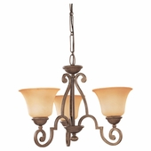 Three-Light Brandywine Chandelier