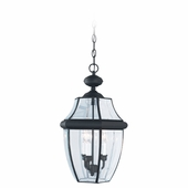 Three-Light Lancaster Black Outdoor Pendant