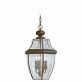 Three-Light Lancaster Bronze Outdoor Pendant