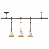 Three Light Saratoga Pendant Rail Kit