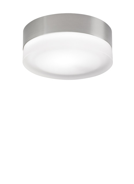 Tiella Lighting 800FM360SS Small 360 Round Ceiling Mount In Satin Nickel