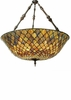 Meyda Tiffany (82098) 36 Inch Width Tiffany Fishscale Inverted Pendant