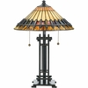 Tiffany- Arts & Crafts Style Chastain Tiffany Table Lamp In  Finish From Quoizel Lighting- TF489T