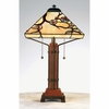 Tiffany- Arts & Crafts Style Grove Park Tiffany Table Lamp In Multi Finish From Quoizel Lighting- TF6898M