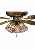 Meyda Tiffany (27468) 4 Inch Width Tiffany Fishscale Fan Light Shade
