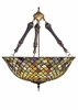 Meyda Tiffany (30466) 24 Inch Width Tiffany Fishscale Inverted Pendant