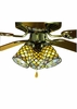 Meyda Tiffany (27470) 4 Inch Width Tiffany Fishscale Fan Light Shade