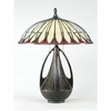 Tiffany- Contemporary Style Alahambre Tiffany Table Lamp In Burnt Cinnamon Finish From Quoizel Lighting- TF6855BC