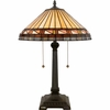 Tiffany- Contemporary Style Estacado Tiffany Table Lamp In Vintage Bronze Finish From Quoizel Lighting- TF6663VB