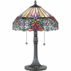 Tiffany- European Style Connie Tiffany Table Lamp In Vintage Bronze Finish From Quoizel Lighting- TF6826VB