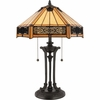 Tiffany- European Style Indus Tiffany Table Lamp In Vintage Bronze Finish From Quoizel Lighting- TF6669VB
