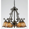 Tiffany- European Style Tiffany Chandelier In Imperial Bronze Finish From Quoizel Lighting- TF5002IB