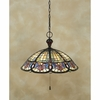 Tiffany- European Style Tiffany Pendant In Vintage Bronze Finish From Quoizel Lighting- TF1618VB