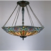 Tiffany- European Style Tiffany Pendant In Vintage Bronze Finish From Quoizel Lighting- TF1784VB