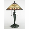Tiffany- European Style Westlake Tiffany Table Lamp In Vintage Bronze Finish From Quoizel Lighting- TF6821VB