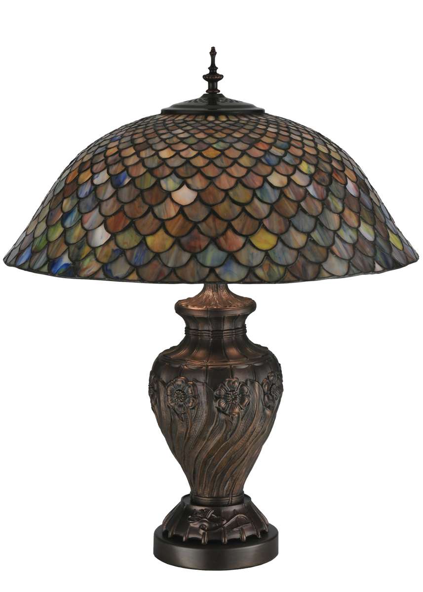 meyda tiffany 118588 24 inch height tiffany fishscale table lamp. Black Bedroom Furniture Sets. Home Design Ideas