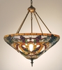 Meyda Tiffany (65652) 24 Inch Width Jeweled Grape Inverted Pendant