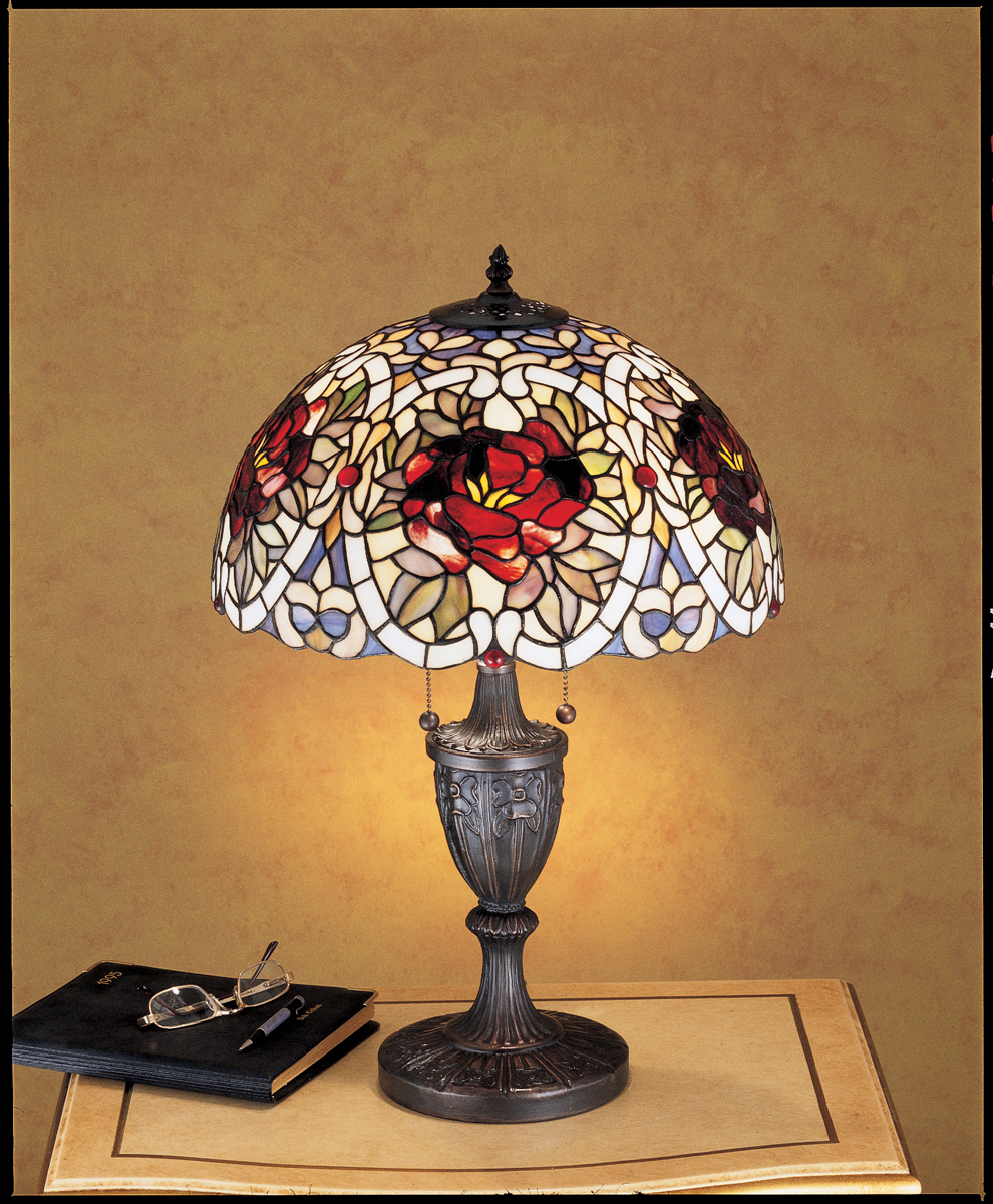 meyda tiffany 26674 24 inch height renaissance rose table lamp. Black Bedroom Furniture Sets. Home Design Ideas