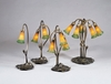 "Meyda Tiffany (13595) 16""H Amber/Green Pond Lily 3 Light Accent Lamp"
