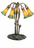 "Meyda Tiffany (14893) 16.5""H Amber/Green Pond Lily 5 Light Accent Lamp"