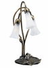 Meyda Tiffany (15282) 16 Inch Height White Pond Lily 3 Light Accent Lamp