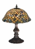Meyda Tiffany (27170) 15 Inch Height Tiffany Fishscale Accent Lamp