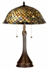 Meyda Tiffany (28369) 23 Inch Height Tiffany Fishscale Table Lamp