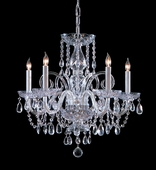 Traditional Crystal Collection 5 Light Chandeliers with Swarovski Elements Crystals shown in Polished Chrome by Crystorama Lighting