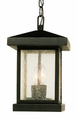 Traditional Seeded 2 Light Hanging Lantern shown in Weathered Bronze by Trans Globe Lighting
