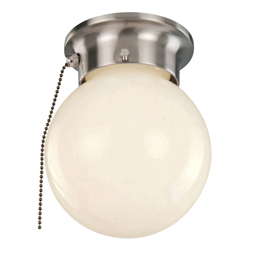 globe lighting 3606p idlewyld 1 light pull chain ceiling flush mount. Black Bedroom Furniture Sets. Home Design Ideas