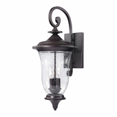 Trinity Coach Lantern Large shown in Oil Rubbed Bronze by Cornerstone Lighting