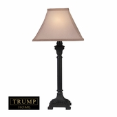 Trump Home Woodbury Resin & Metal Table Lamp shown in Brown by Dimond Lighting