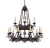 Savoy House (1-3023-15-25) Barista 15 Light Chandelier in Slate Finish