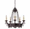 Savoy House (1-3020-5-25) Barista 5 Light Chandelier in Slate Finish