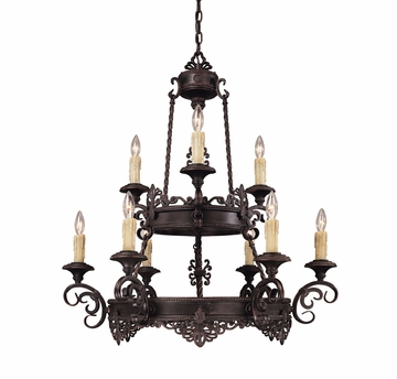 Savoy House (1-3021-9-25) Barista 9 Light Chandelier in Slate Finish