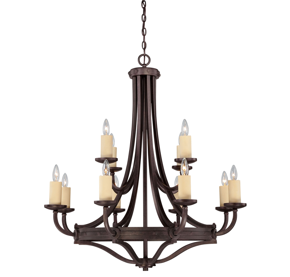 Savoy House (1-2013-12-05) Elba 12 Light Chandelier in Oiled Copper Finish